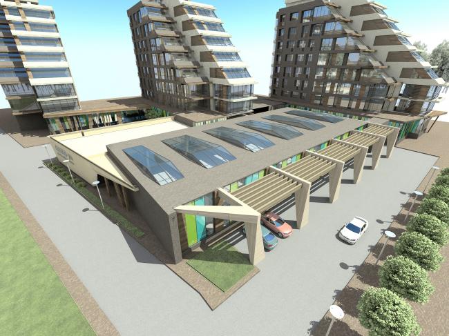 Жилой комплекс «Олимпийская деревня Новогорск. Квартиры». Проект, 2011 © Архитектуриум