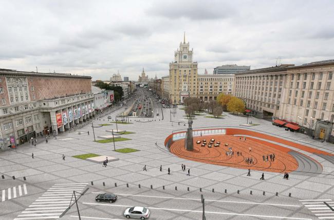 Альтернативный проект реконструкции Триумфальной площади, разработанный бюро Megabudka. © Megabudka