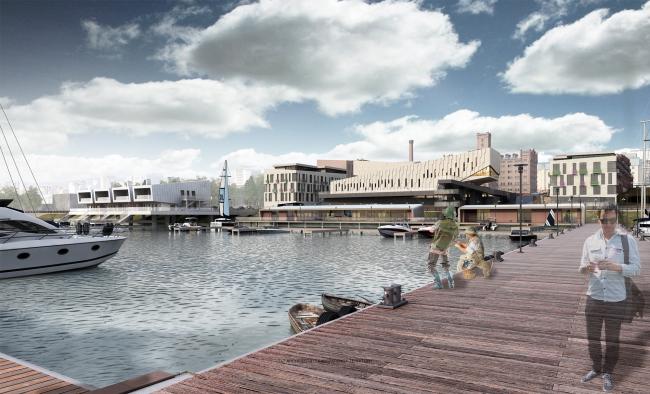 Архитектурная и градостроительная концепция реконструкции и реновации территории фабрики «Саратов мука» © Т+Т Architects
