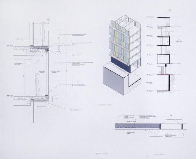 Эскизный проект строительства гостиничного комплекса в самом центре Москвы по адресу: Курсовой переулок, владение 10/1. Проектировщик – Scott Brownrigg, ABV GROUP, заказчик – ООО «Атлант»