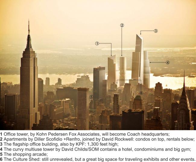 Комплекс Hudson Yards. Изображение с сайта hudsonyardsnewyork.com