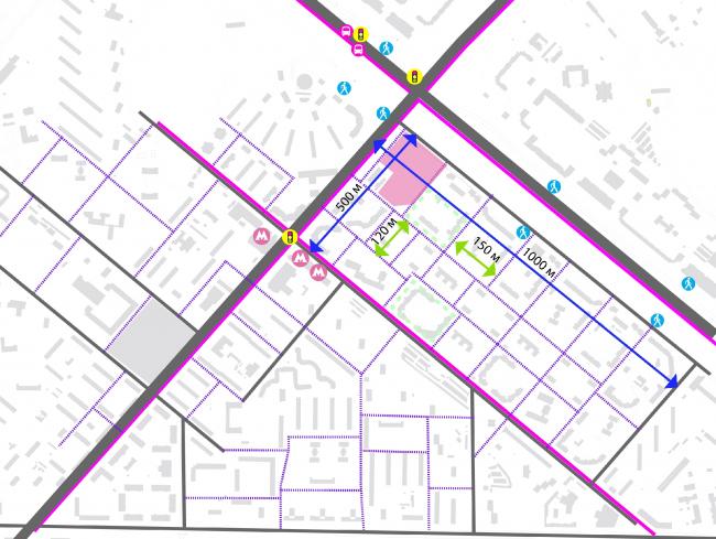 Концепция квартальной планировки жилого комплекса на Рублевском шоссе © АБ «Атриум»