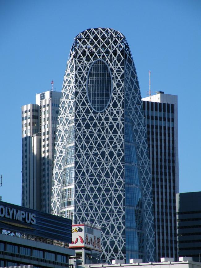 Mode Gakuen Cocoon Tower в Токио © Mathew Shaffer с сайта e-architect.co.uk