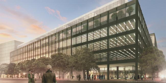Конкурсный проект Patkau Architects и бюро Ayers Saint Gross