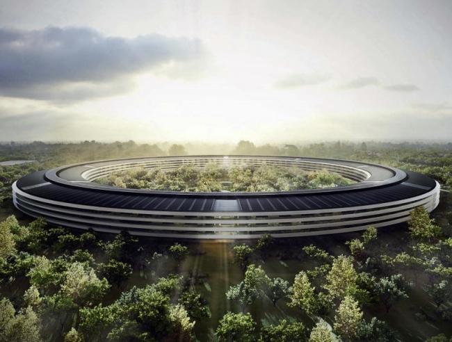 Кампус Apple Park – штаб-квартира компании Apple © City of Cupertino