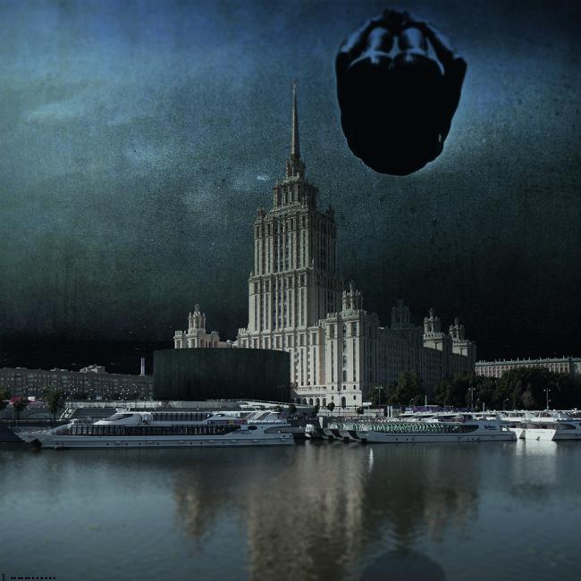 Проект архитектурного решения входной группы гостиницы «Украина». BYND (Германия).  © КБ «Стрелка»