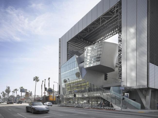 Колледж Эмерсона–здание в Лос-Анджелесе © Roland Halbe. Фото с сайта morphopedia.com