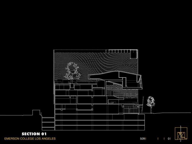 Колледж Эмерсона – здание в Лос-Анджелесе © Morphosis Architects