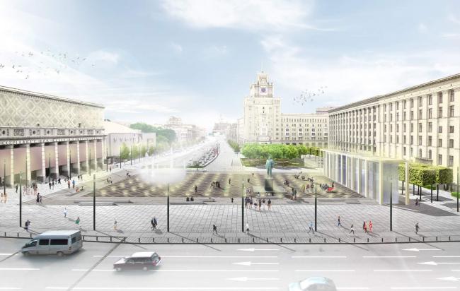 Концепция благоустройства Триумфальной площади. «ST rauma. Ландшафтная архитектура»