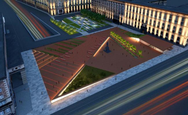 Концепция благоустройства Триумфальной площади. Wowhaus