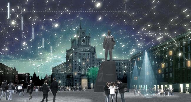 Концепция благоустройства Триумфальной площади. АБ «Космос»