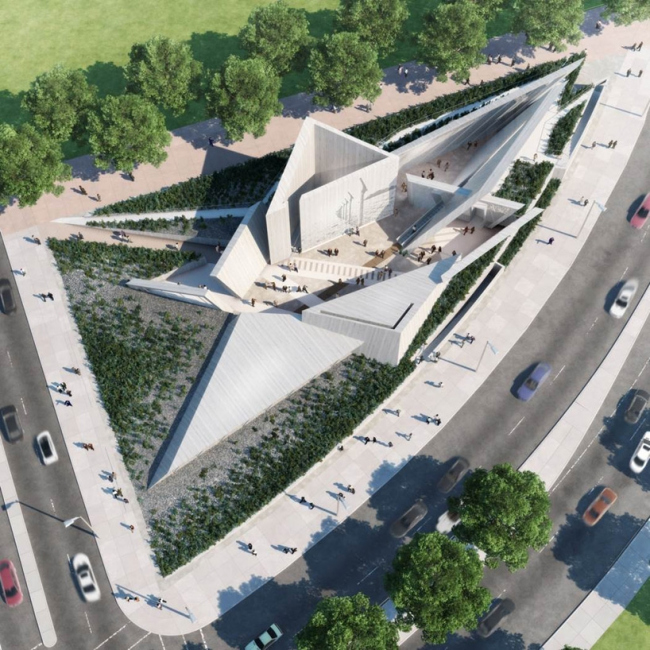 Проект команды Lord © National Holocaust Monument Development Council