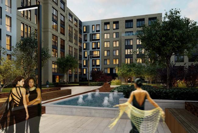 Проект благоустройства территории жилого комплекса Wine House © ТПО «Резерв»