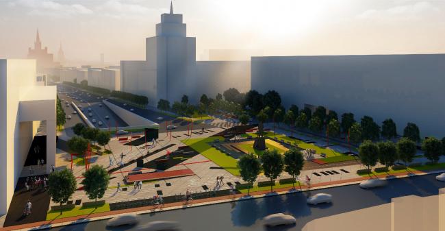 Концепция благоустройства Триумфальной площади © Проектная компания «Трио»