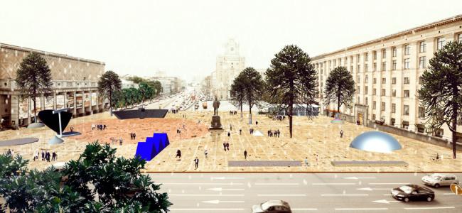 Концепция благоустройства Триумфальной площади © Yellow Square
