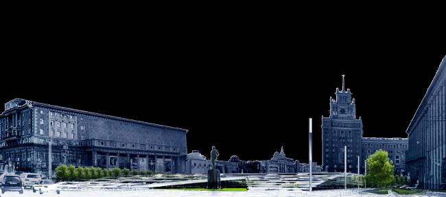Концепция благоустройства Триумфальной площади © ПИ Арена
