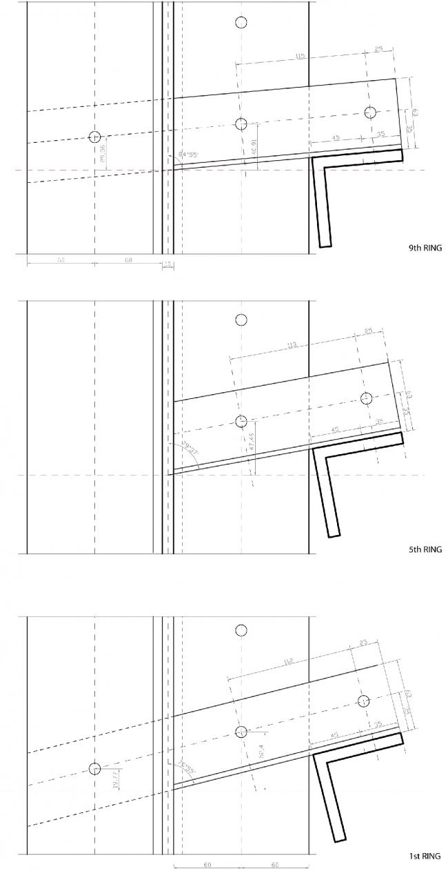 Фрагменты анализа документации по Шуховской башне НиГРЭС в Дзержинске, из которых хорошо видно, что в шуховской конструкции важен каждый миллиметр. Материалы предоставлены Е. Ножовой