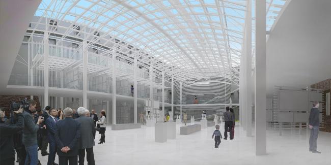 Выставочный зал нового культурного центра Академии. АБ «Четвертое измерение»
