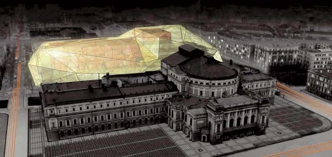 Вторая сцена Мариинского театра в Санкт-Петербурге. Проект Доминика Перро