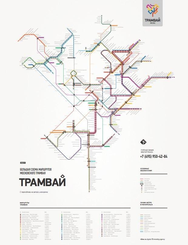 Схема маршрутов московского