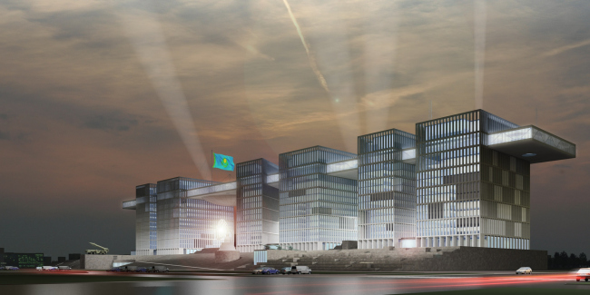 Multifunctional complex of the defense ministry of for Office design kazakhstan