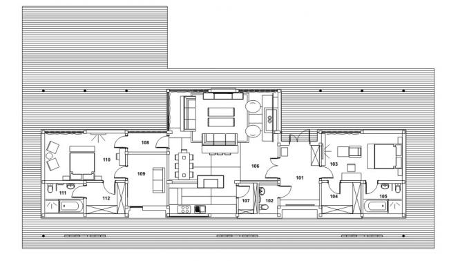 Частный жилой дом в Подмосковье © Архитектурное бюро «Роман Леонидов и партнеры»
