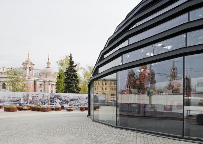 Информационный павильон парка «Зарядье». Фото Ильи Иванова
