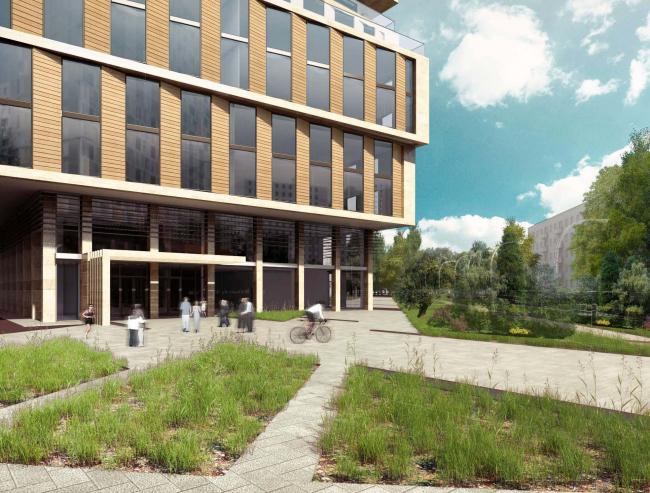 Предварительная архитектурно-градостроительная концепция многофункционального комплекса на проспекте Вернадского © Т+Т Architects
