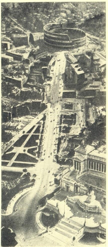 Улица Империи. Начало 1930-х. Фото из издания: Ремпель Л. Архитектура послевоенной Италии. М., 1935