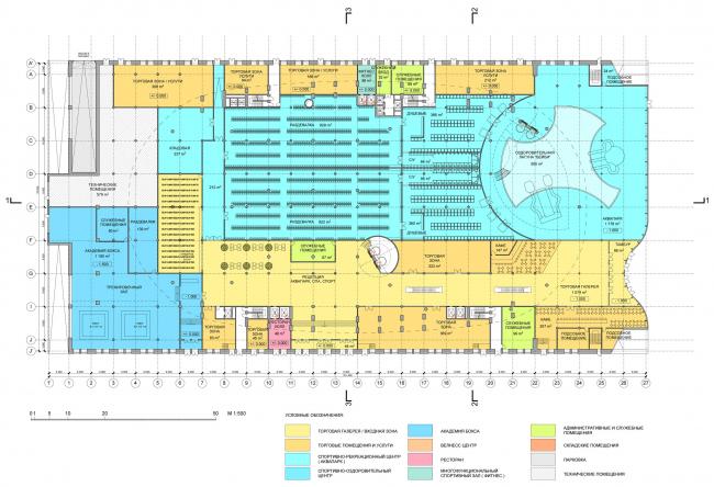 Минус первый уровень / Концепция реконструкции бассейна «Лужники», ДНК аг.