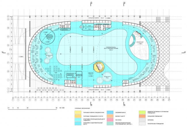 Второй уровень / Концепция реконструкции бассейна «Лужники», ДНК аг.