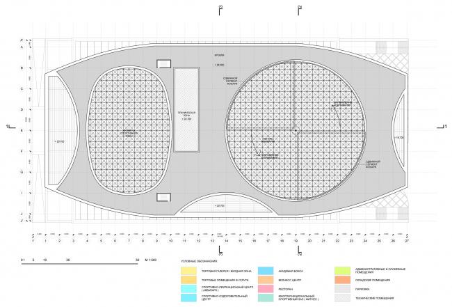 План кровли / Концепция реконструкции бассейна «Лужники», ДНК аг.