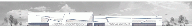 Спортивный комплекс хоккейного клуба СКА. Фасад. Проект, 2012 © А.Лен