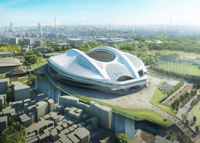 Национальный стадион Японии. Доработанный вариант проекта © Zaha Hadid Architects
