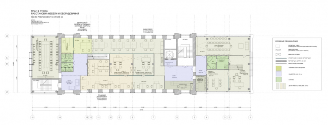 План 4 этажа. Реконструкция мельницы И.А. Зарывнова под офисный центр © Т+Т Architects, Mealhouse Concept Design