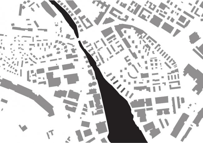 Корпус B жилого массива Strandparken. Ситуационный план © Wingårdhs Arkitekter