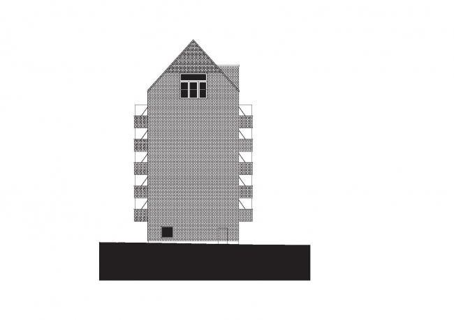 Корпус B жилого массива Strandparken  © Wingårdhs Arkitekter