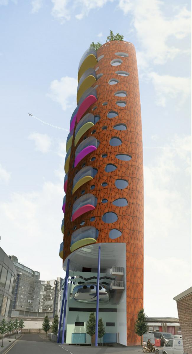 Проект башни Heliport Heights в Лондоне