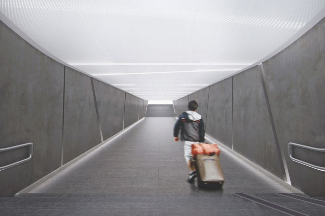 Проект станции метро «Солнцево» © Роспроект М