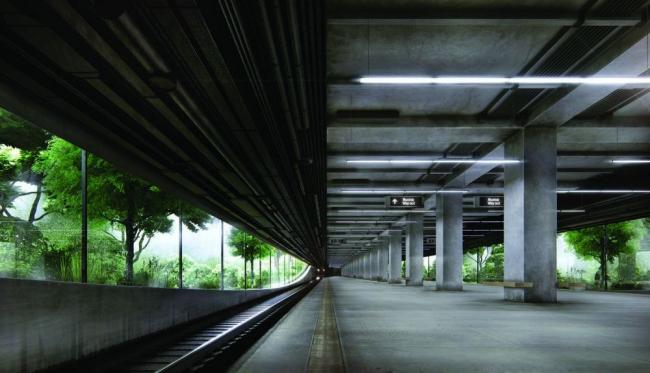 Проект станции метро «Новопеределкино» © FAS(t)