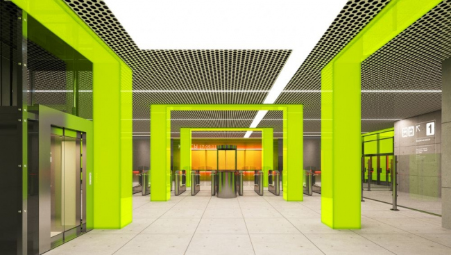 Проект станции метро «Новопеределкино» © Nefaresearch