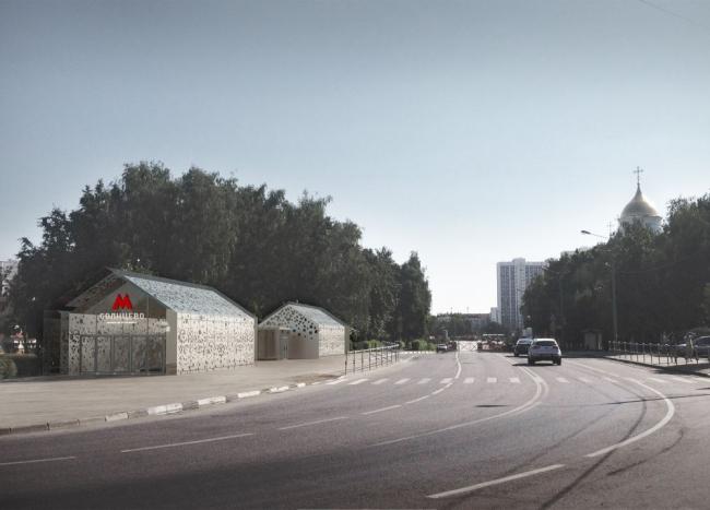 Проект станции метро «Солнцево» © Nefaresearch
