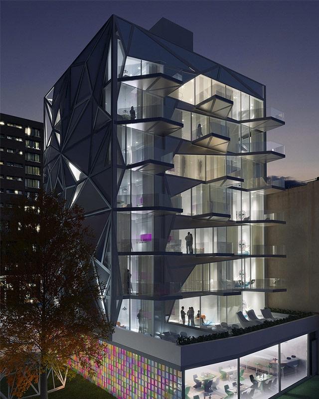 Жилой комплекс HAP 5 на Манхэттене. Дизайнер Карим Рашид