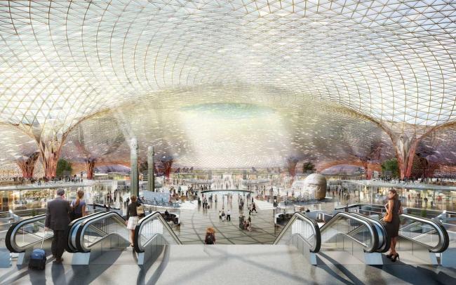 Новый международный аэропорт Мехико © Foster + Partners