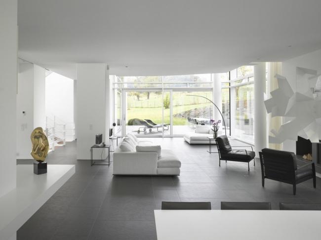Современный дом в Люксембурге. Проект Ричарда Майера