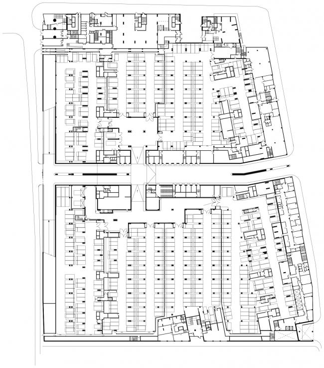 Жилой комплекс в Одинцово. План -1 этажа © АБ Остоженка