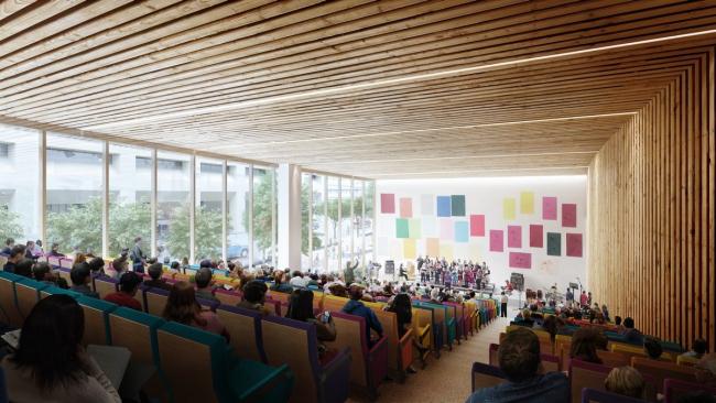 Дизайн интерьера аудитории в библиотеке Калгари от Snøhetta