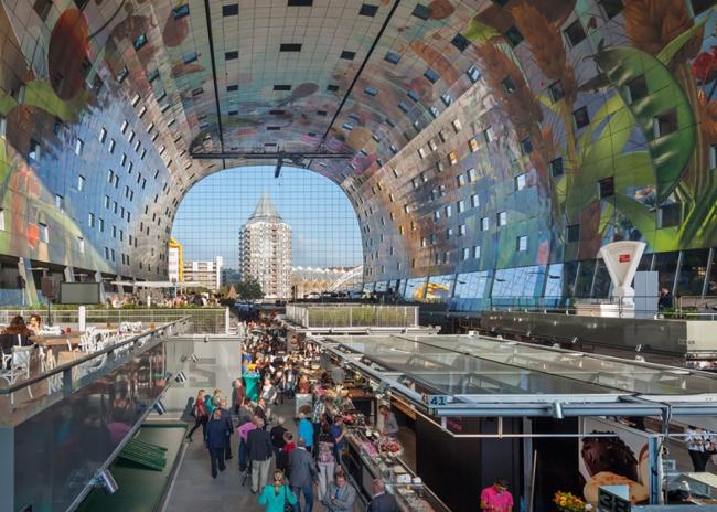 Дизайн жилой арки Markthal в Роттердаме