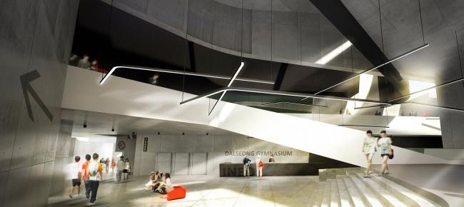 Проект спорткомплекса  для округа Dalseong-gun, Тэгу, Южная Корея © Архитектурное бюро «А.Лен»