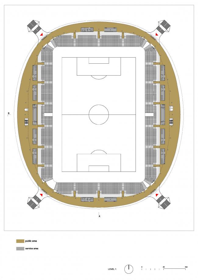 Стадион клуба БАТЭ в Борисове © Ofis Arhitekti